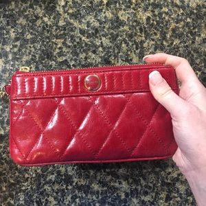 Coach quilted leather wristlet